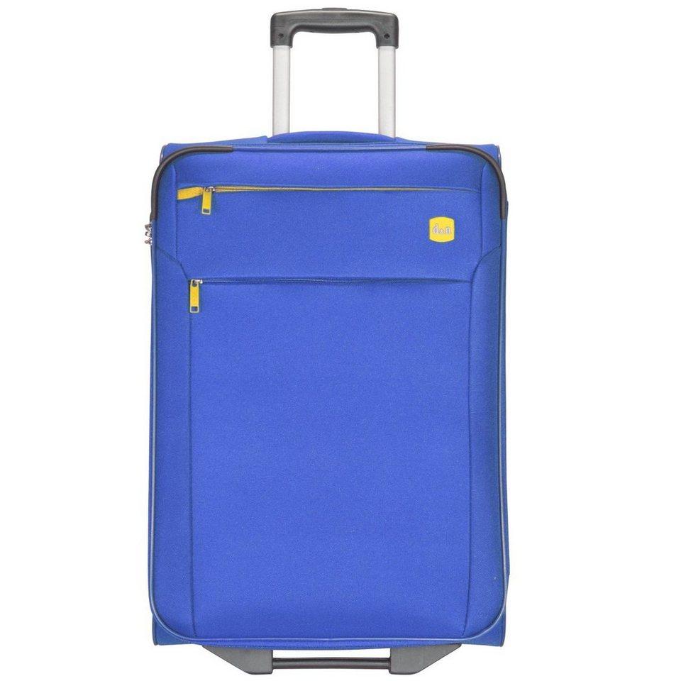 d & n Travel Line 7100 2-Rollen Trolley 62 cm in blau