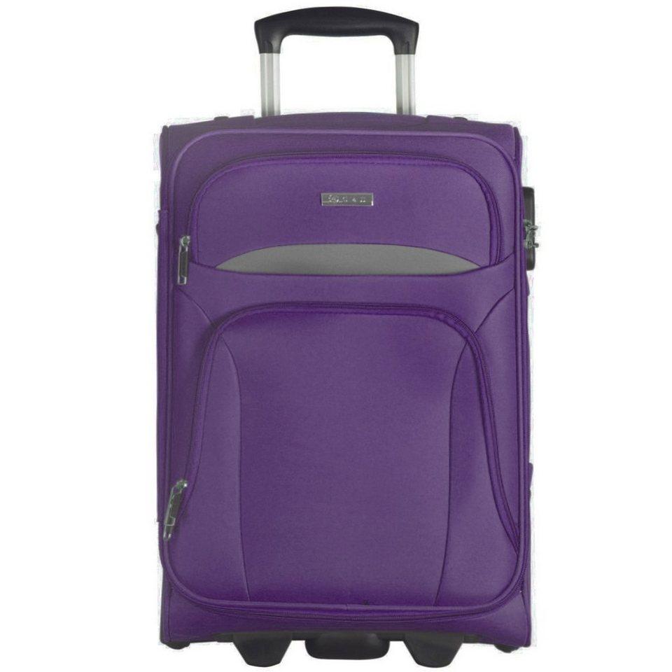 d & n d&n Travel Line 7704 2-Rollen Kabinentrolley 53 cm in purple-grey