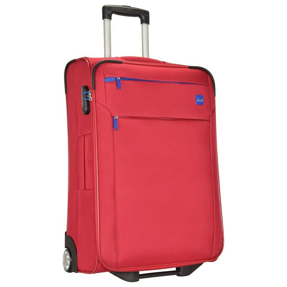 d & n Travel Line 7100 2-Rollen Trolley 72 cm in rot