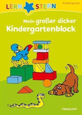 Broschiertes Buch »Lernstern: Mein großer dicker Kindergartenblock«