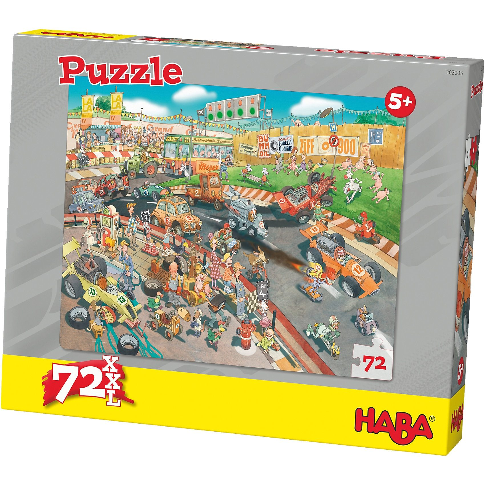 Haba Puzzle 72 XL Teile - Autorennen
