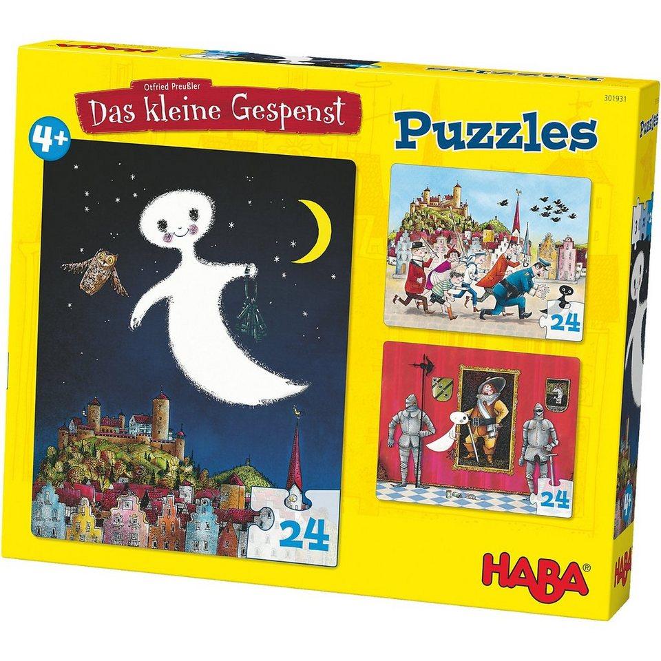 Haba Puzzle-Set 3 x 24 Teile - Das kleine Gespenst