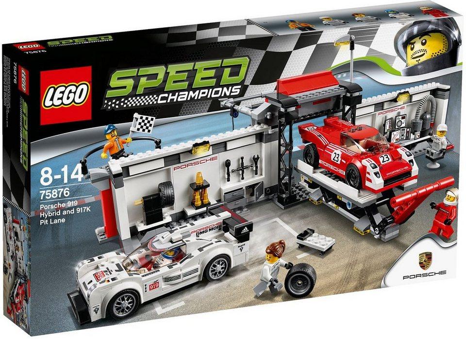 LEGO®, Porsche 919 Hybrid und 917K Boxenstopp (75876), »LEGO® Speed Champions«