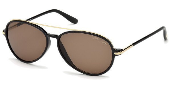Tom Ford Herren Sonnenbrille »Ramone FT0149« in 01J - schwarz/braun