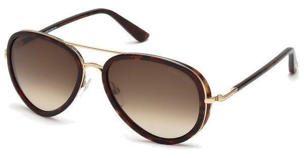 Tom Ford Herren Sonnenbrille »Miles FT0341« in 28K - gold/braun