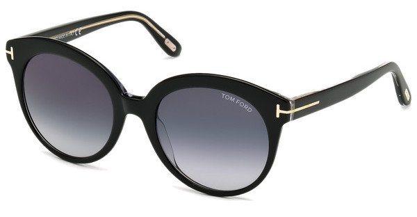 Tom Ford Damen Sonnenbrille »Monica FT0429« in 03W - schwarz/blau