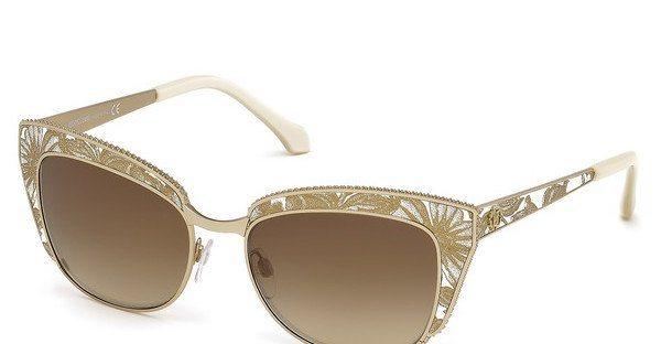 Roberto Cavalli Damen Sonnenbrille » RC973S« in 28G - gold/braun