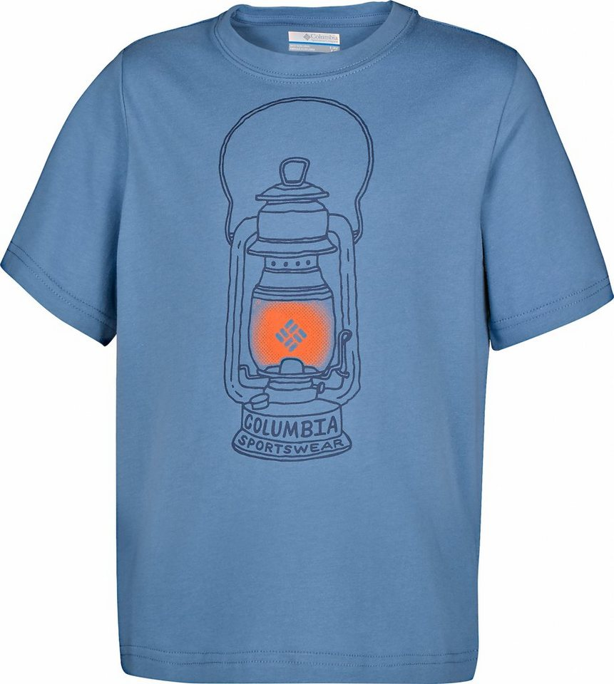 Columbia T-Shirt »Camp Light Graphic Tee Boys« in blau