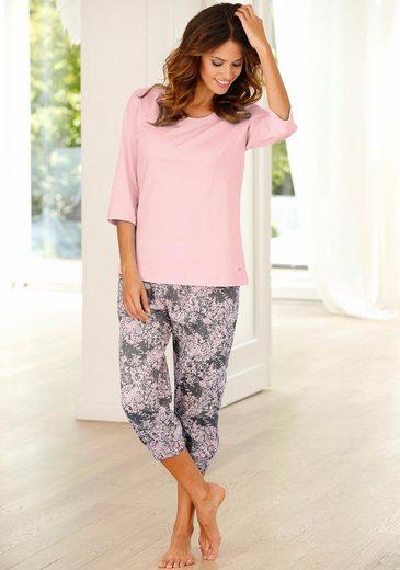 Buffalo Capri-Pyjama mit gemusterter Hose