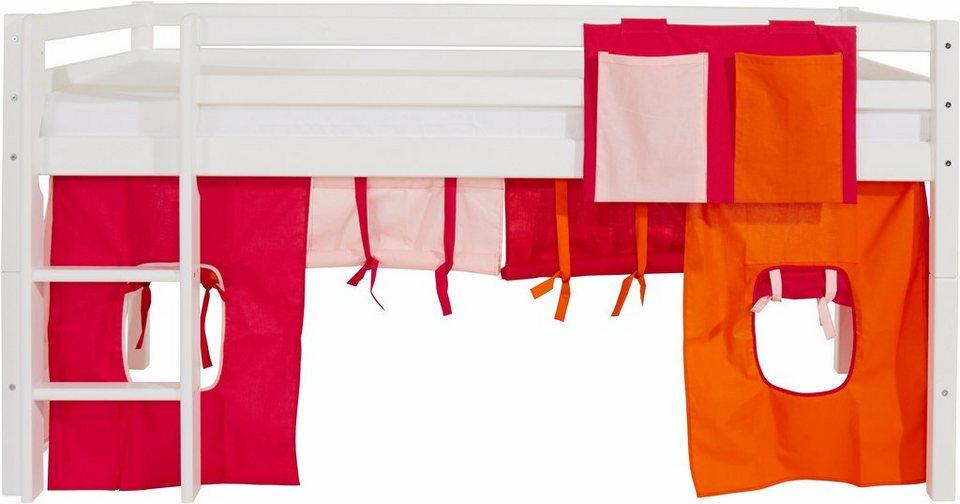 Hoppekids Vorhang-Set »Multicolor« (2-tlg.) in pink