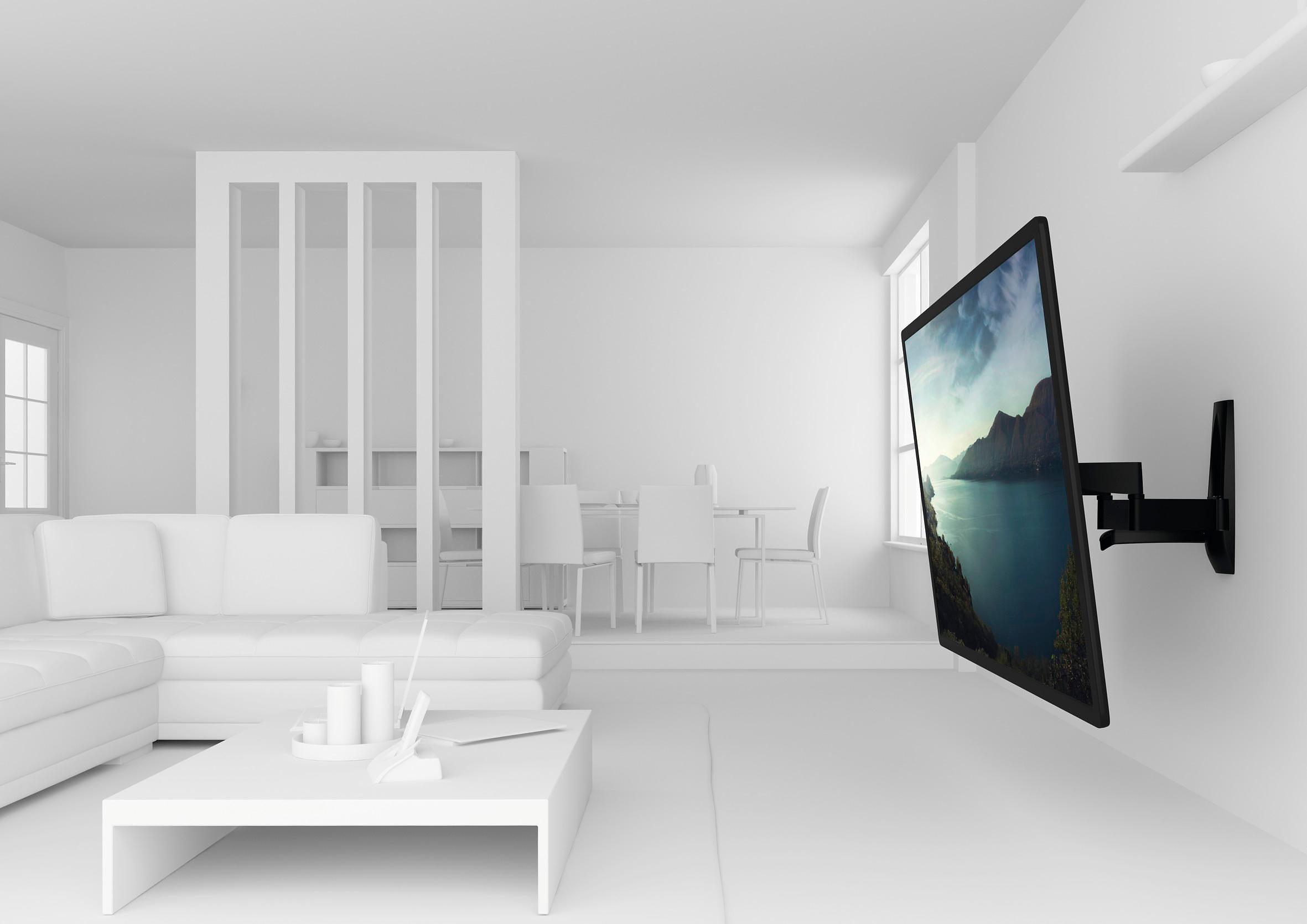 vogel's® TV-Wandhalterung »WALL 2450« schwenkbar, für 140-254 cm (55-100 Zoll) TV, VESA 800x400
