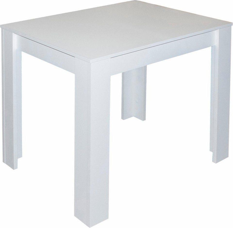 Esstisch, Breite 80 cm, 110 cm oder 120 cm in weiß matt