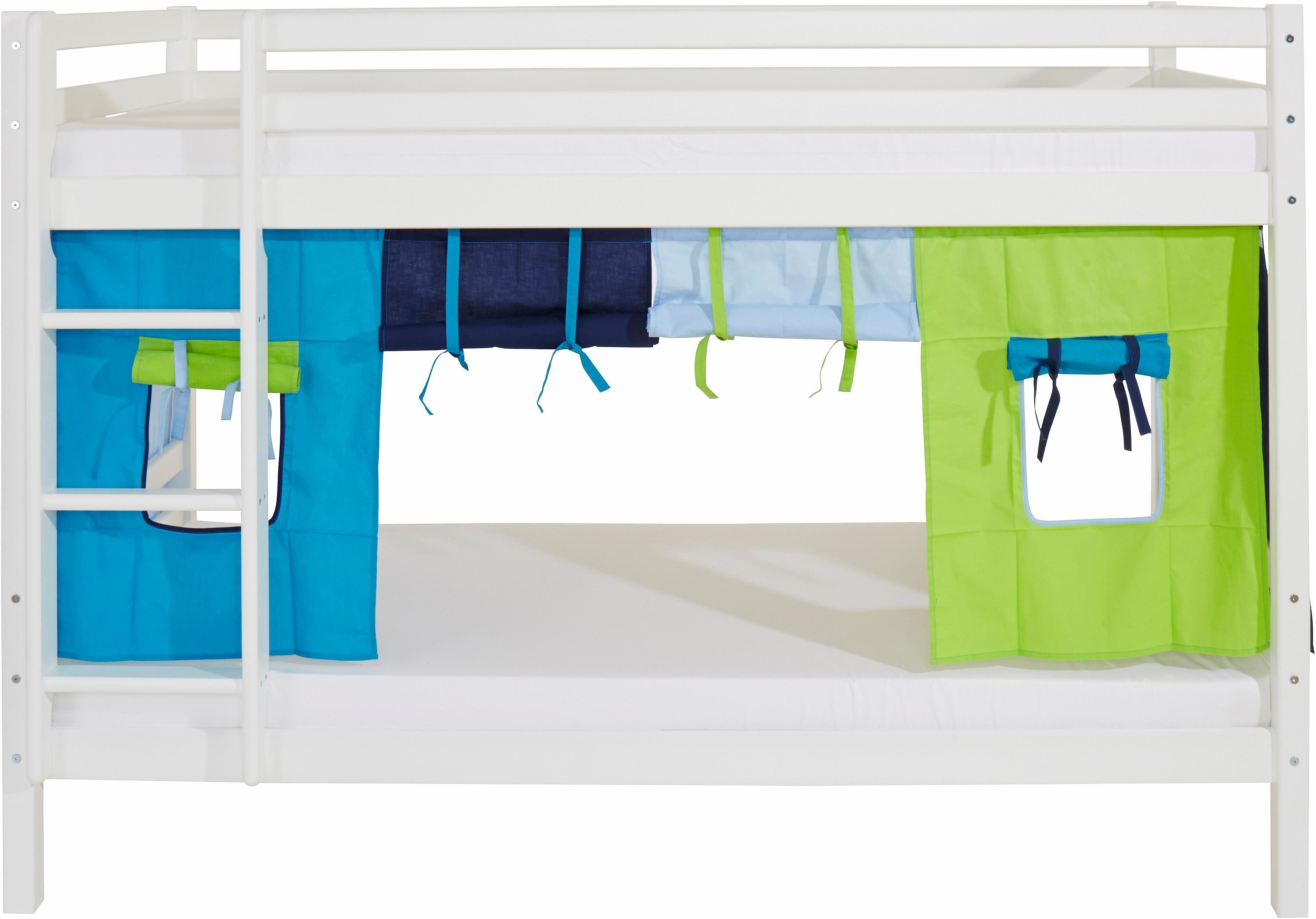 Hoppekids Etagenbett »Multicolor« | Kinderzimmer > Kinderbetten > Etagenbetten | Weiß - Blau | Massiver - Stoff | Hoppekids