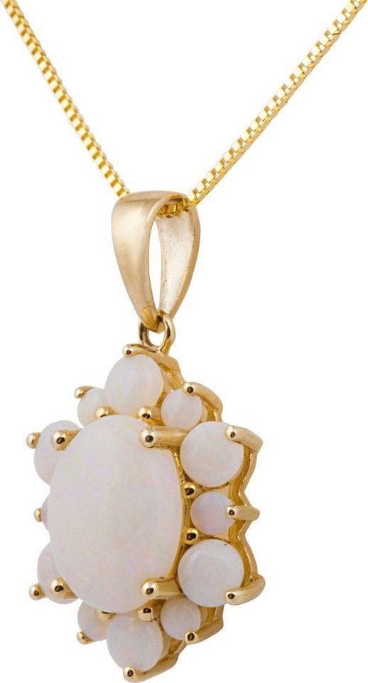 Vivance Jewels Kette mit Anhänger, mit Opalen in Gelbgold 375