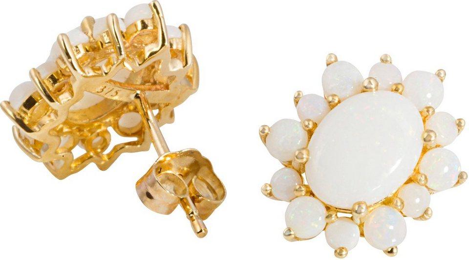 Vivance Jewels Paar Ohrstecker mit Opalen in Gelbgold 375