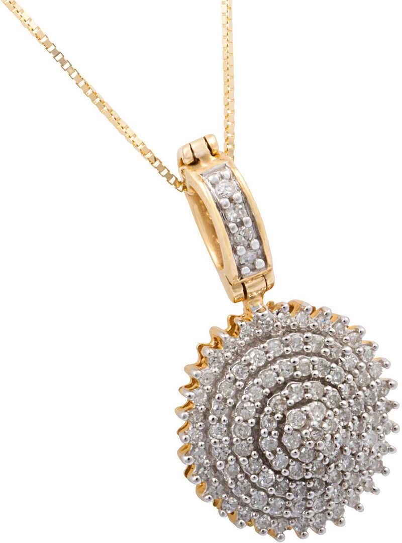 Firetti Kette mit Anhänger »glamourös rund«, mit Diamanten