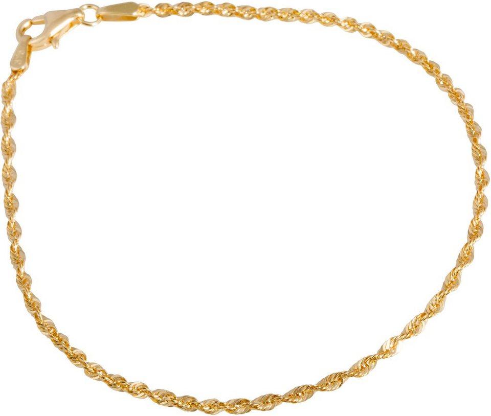 firetti Armband in Kordelkettengliederung in Gelbgold 375