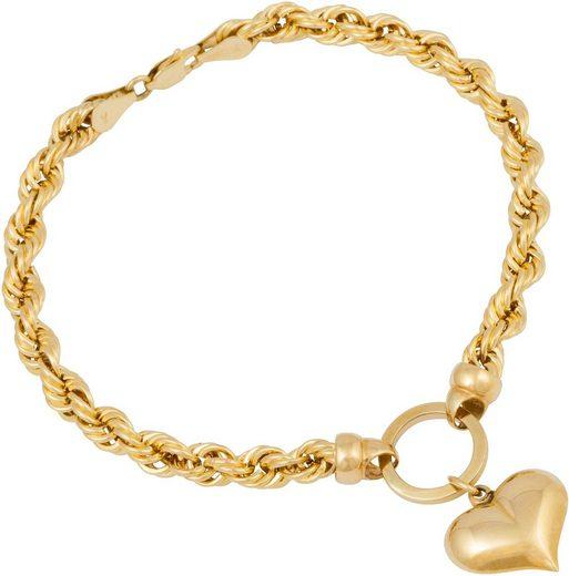 Firetti Armband »Herz, Kordelkettengliederung«