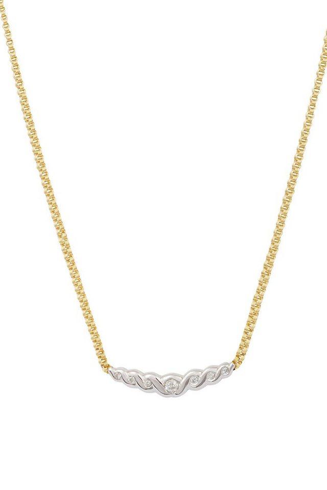 vivance jewels Kette mit Diamanten in Gelb-/Weißgold 585
