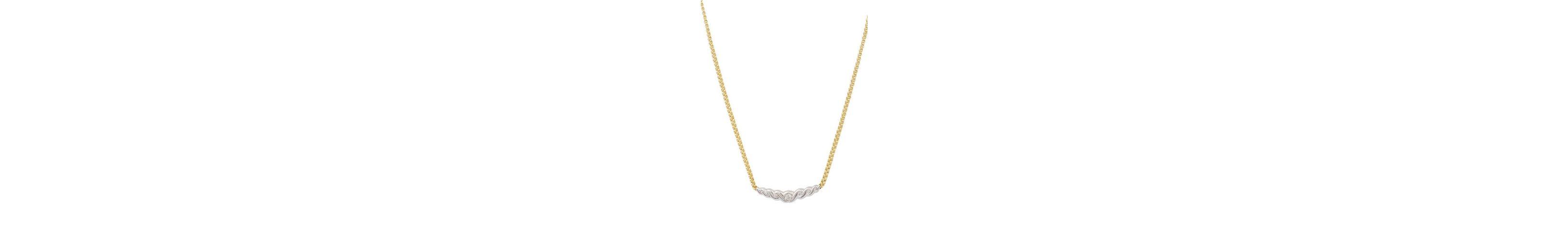 vivance jewels Kette mit Diamanten