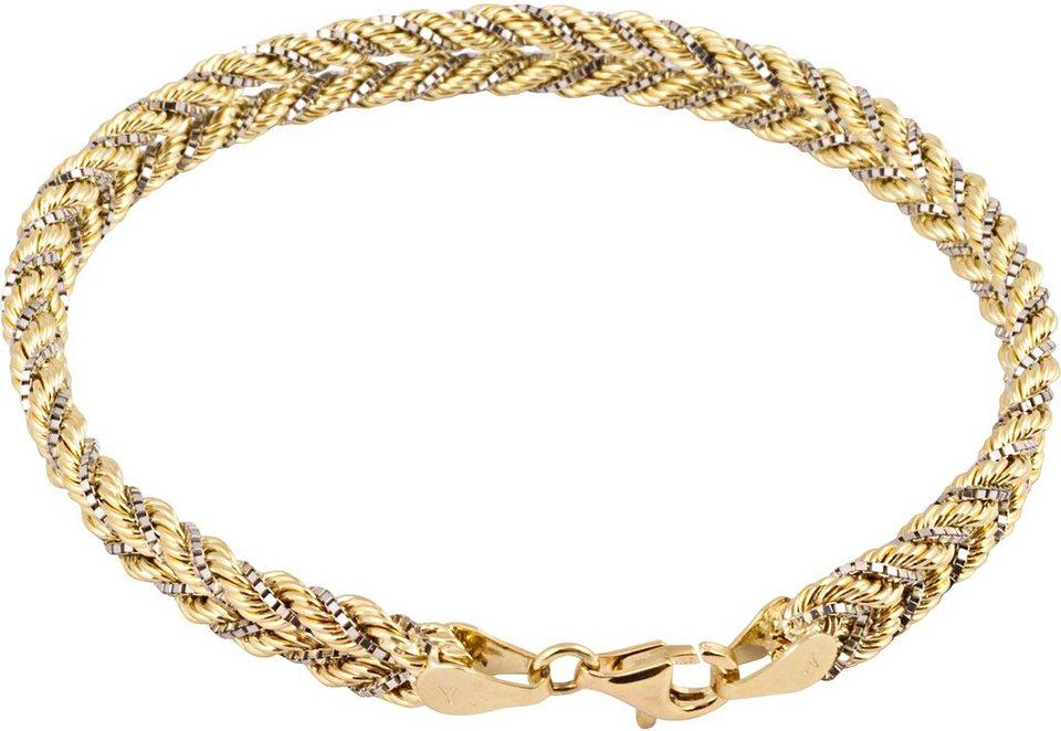 firetti Armband in Gelb-/Weißgold 375
