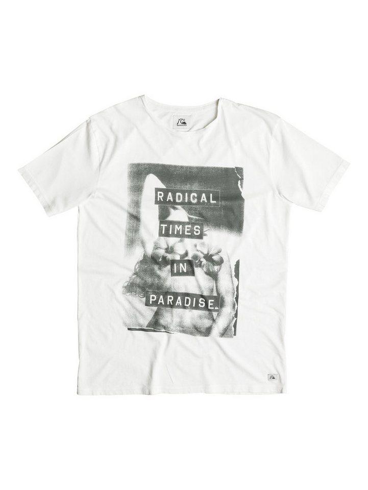 Quiksilver T-Shirt »Garment Dye In Bloom« in snow white