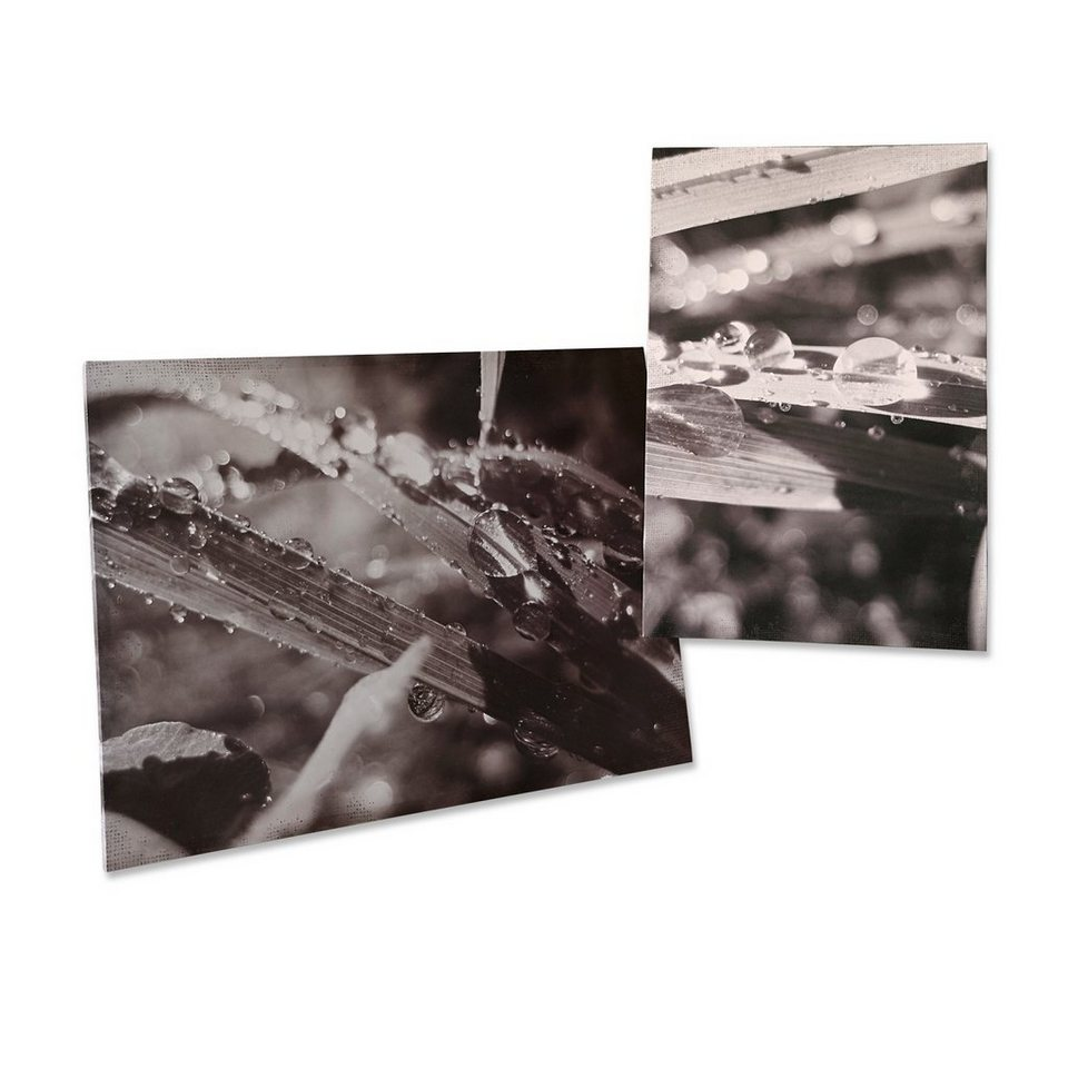 Loberon Bilder 2er-Set »Dew« in grau