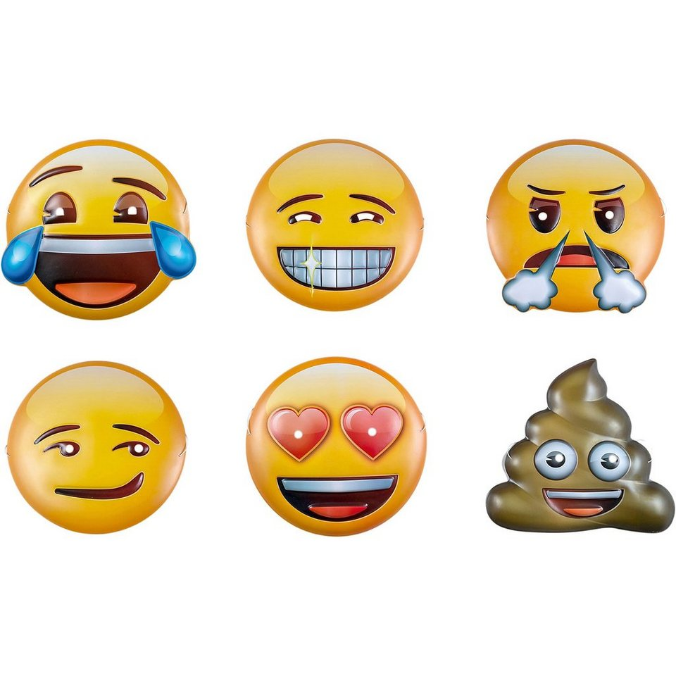 Happy People Masken Emoji, 6 Stück