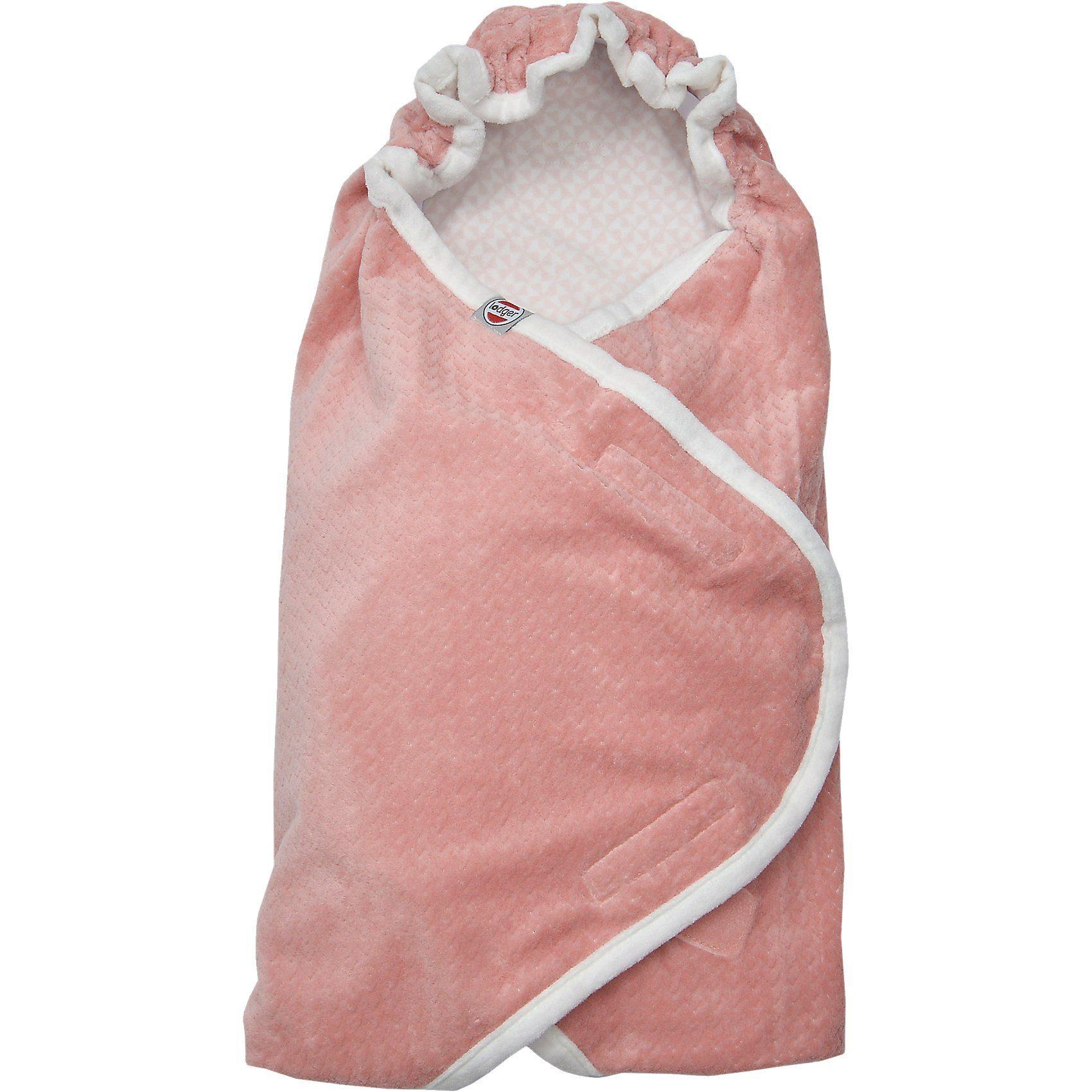 Lodger Einschlagdecke für Babyschalen, rosa