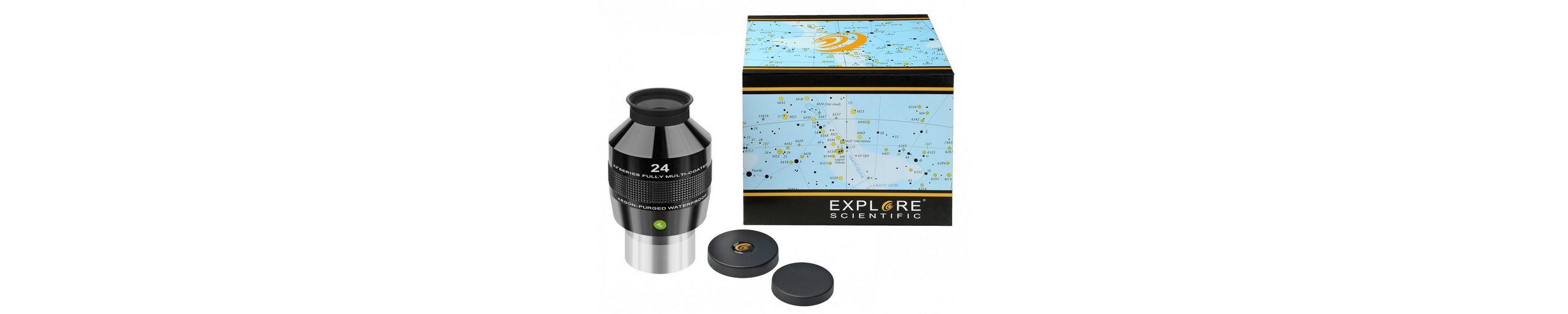 "Bresser Teleskop »EXPLORE SCIENTIFIC 82° N2 Okular 24mm (2"")«"