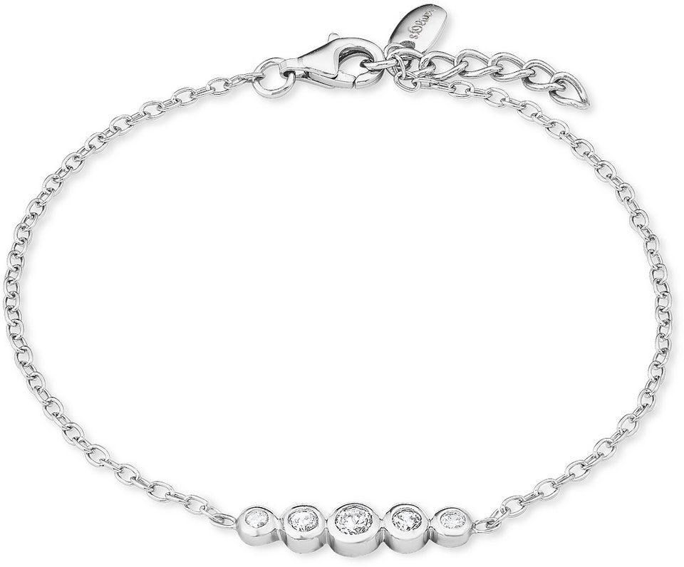 s.Oliver Armband mit Zirkonia, »SO1408/1« in Silber 925