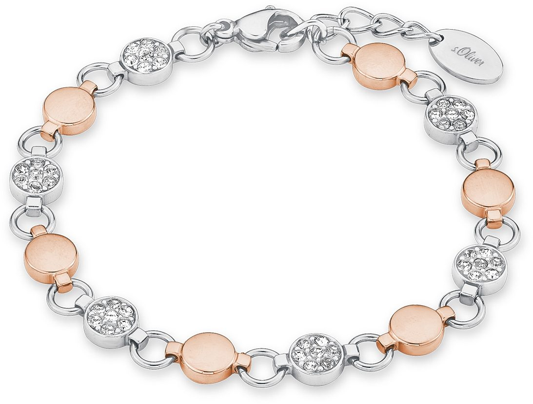 s.Oliver RED LABEL Armband »9239443«, mit Swarovski® Kristallen