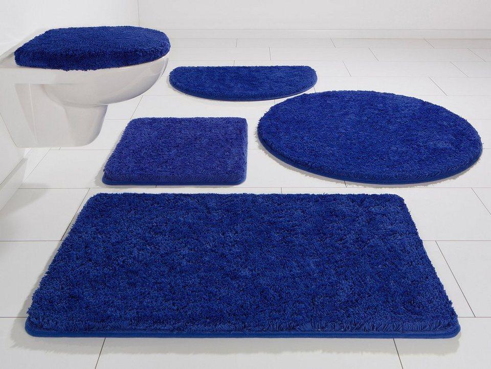 Badematte, Kinzler, »Chaozhou«, Mikrofaser, Höhe ca. 20 mm, rutschhemmender Rücken in royalblau