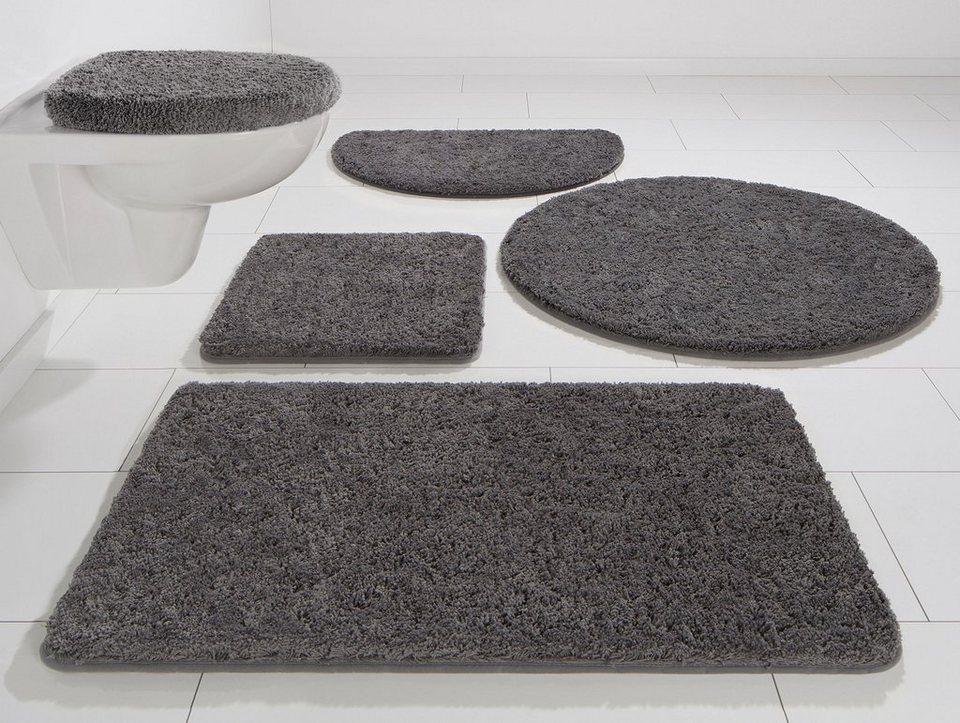 Badematte, Kinzler, »Chaozhou«, Mikrofaser, Höhe ca. 20 mm, rutschhemmender Rücken in anthrazit