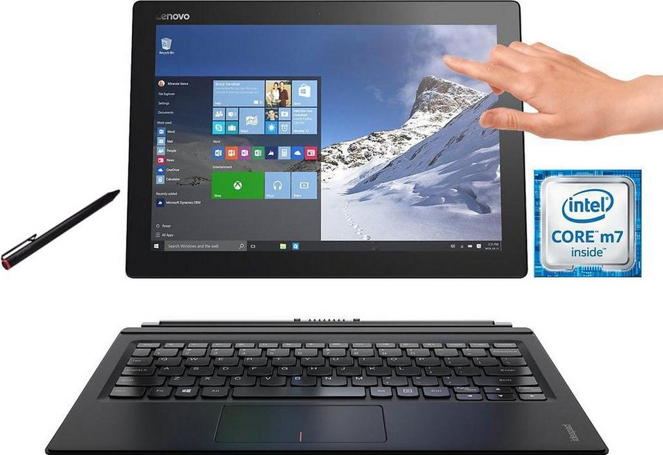 Lenovo MIIX 700-12ISK Convertible Notebook, Intel® Core™ m7, 30,5 cm (12 Zoll), 256 GB Speicher in schwarz