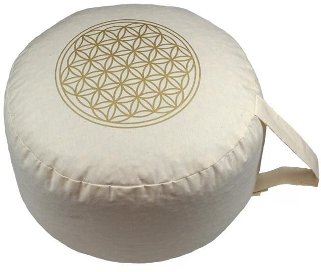 Yogakissen Zafu Quadro Blume des Lebens Stick
