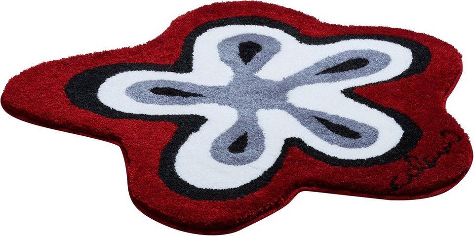 Badematte, Colani, »Colani 1«, Höhe 24 mm, rutschhemmender Rücken in rot