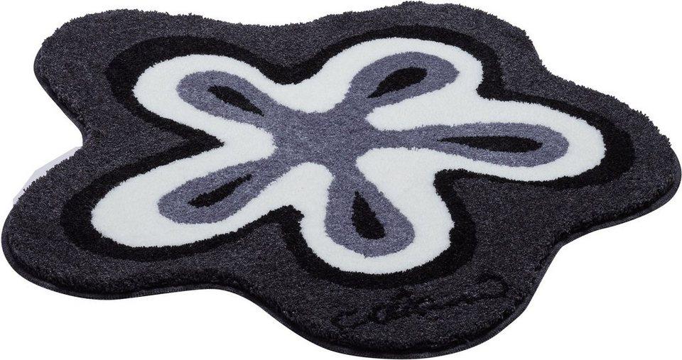 Badematte, Colani, »Colani 1«, Höhe 24 mm, rutschhemmender Rücken in anthrazit