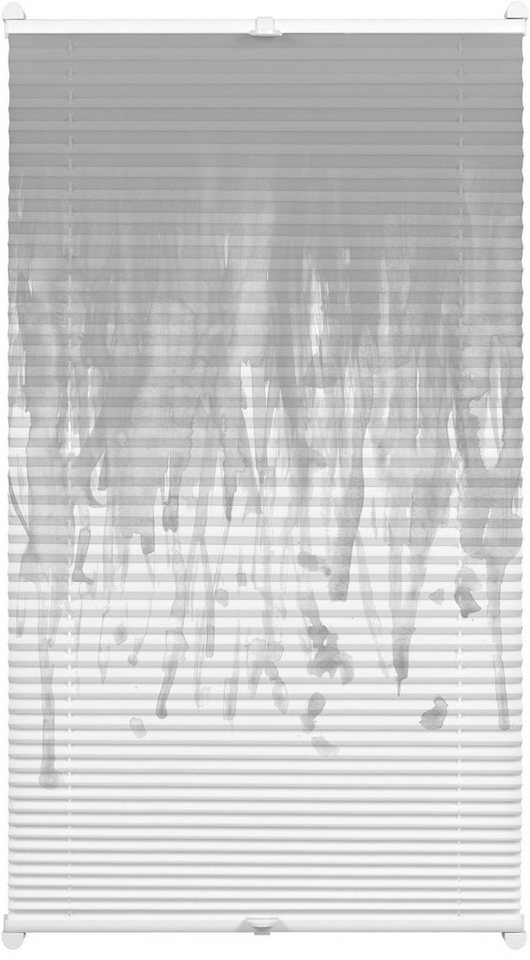 Plissee, Gardinia, »Easyfix Swedish Moments Rainfall«, Faltenstore, Lichtschutz, Fixmaß, ohne Bohren in grau