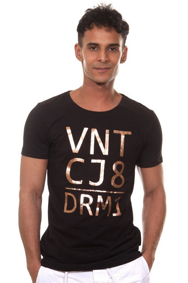 CATCH T-Shirt Rundhals slim fit in schwarz