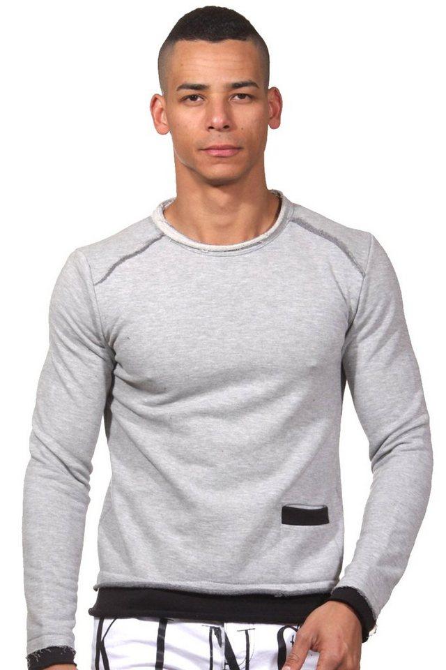 CATCH Sweater slim fit in grau