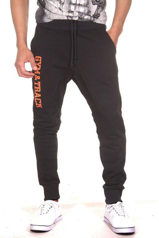 CATCH Workout Pants in schwarz/orange