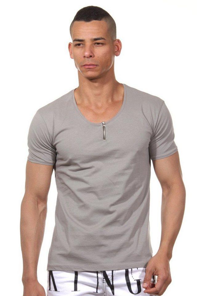 CATCH T-Shirt Rundhals slim fit in dunkelgrau