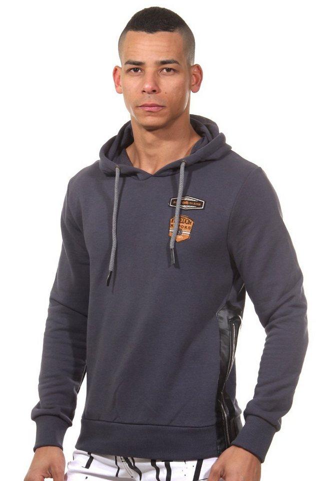 CATCH Kapuzensweater slim fit in grau