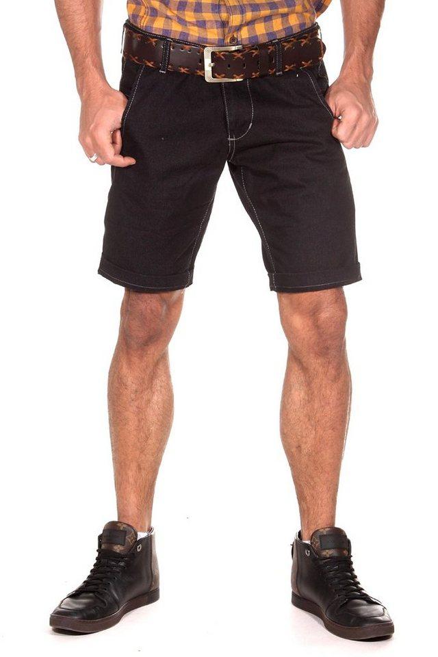 CATCH Denim Shorts in schwarz
