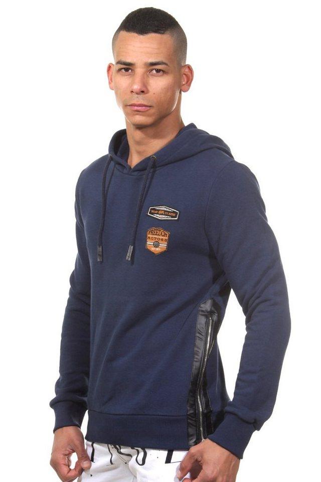 CATCH Kapuzensweater slim fit in blau