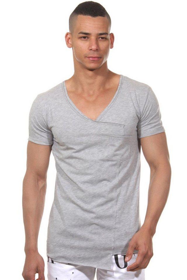 CATCH T-Shirt V-Ausschnitt in grau