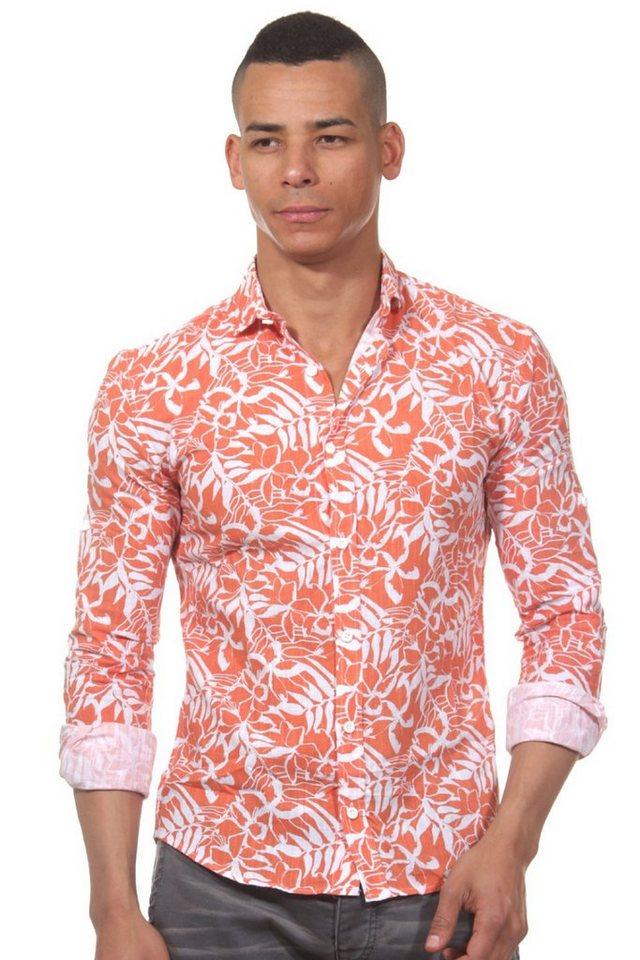 CATCH Langarmhemd slim fit in orange