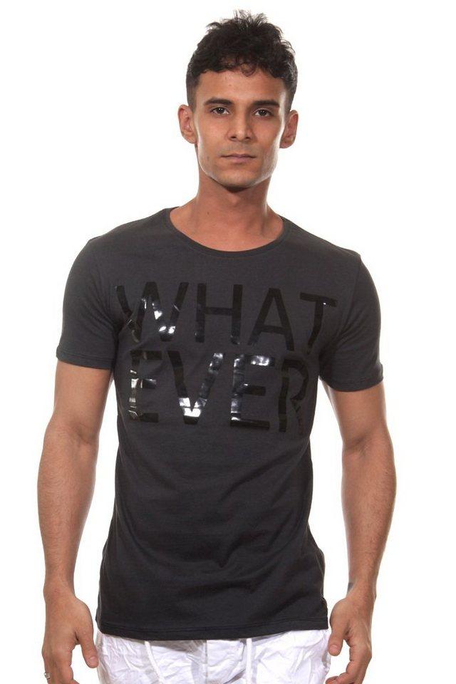 CATCH T-Shirt Rundhals slim fit in anthrazit