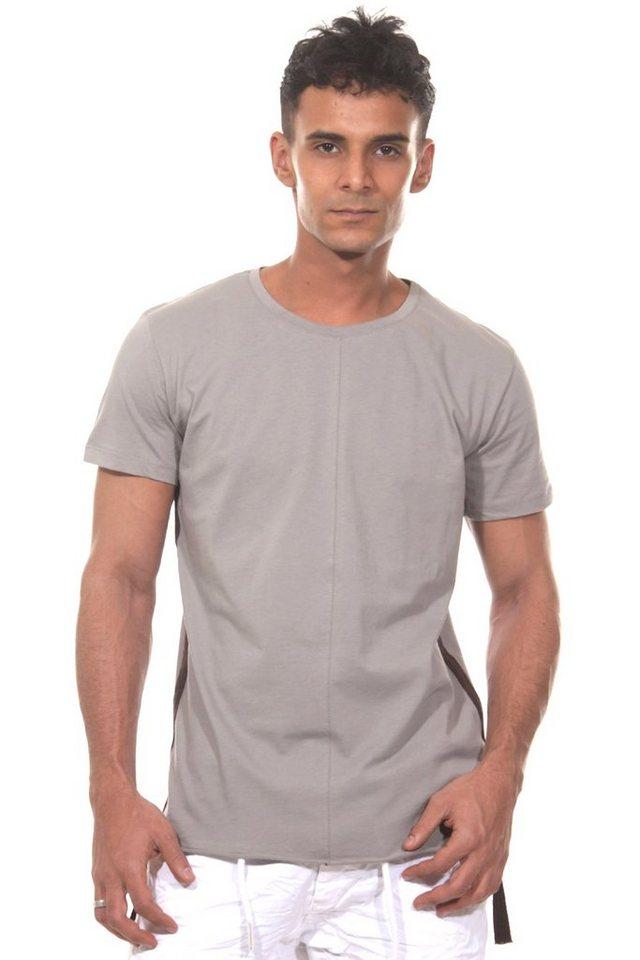 CATCH T-Shirt Rundhals slim fit in grau